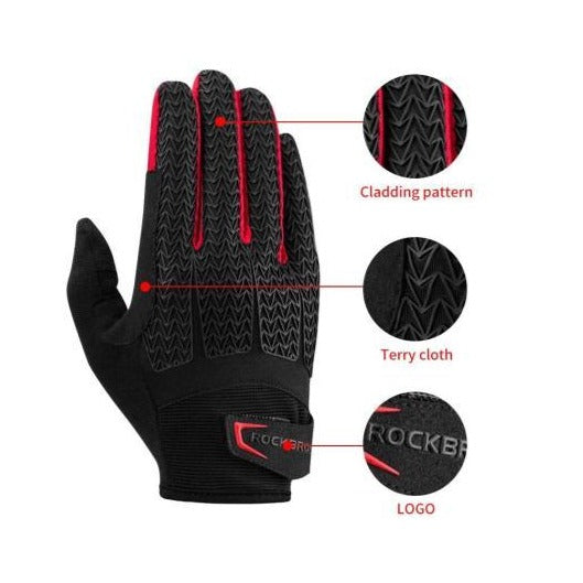 Guantes completos de Gel Color Rojo/Negro L