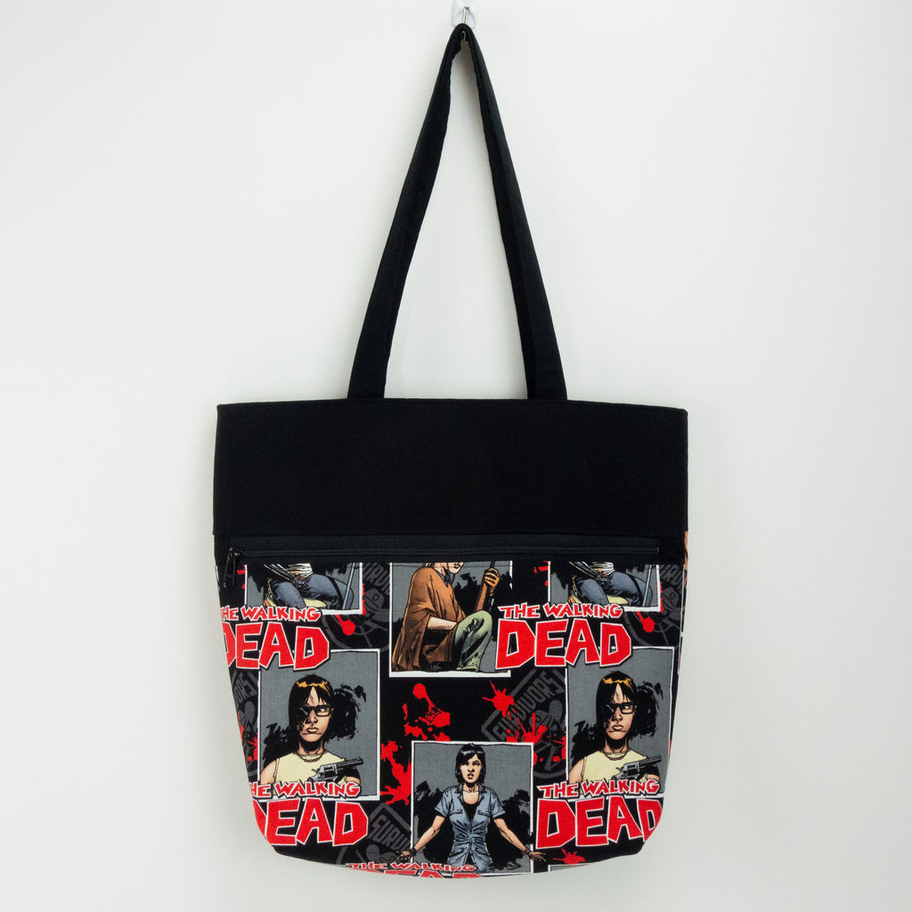 Walking Dead Tote Bag with Zipper Front