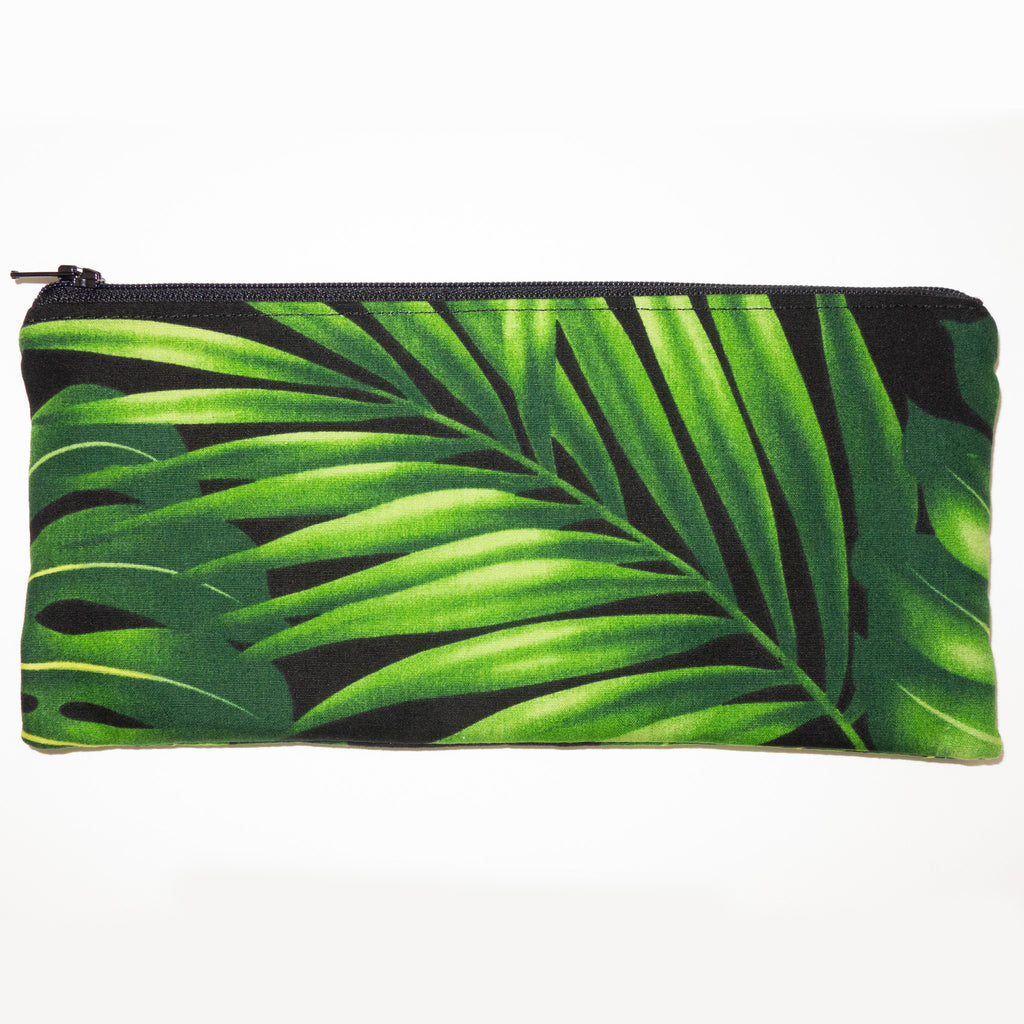 Green Palm Pencil Pouch
