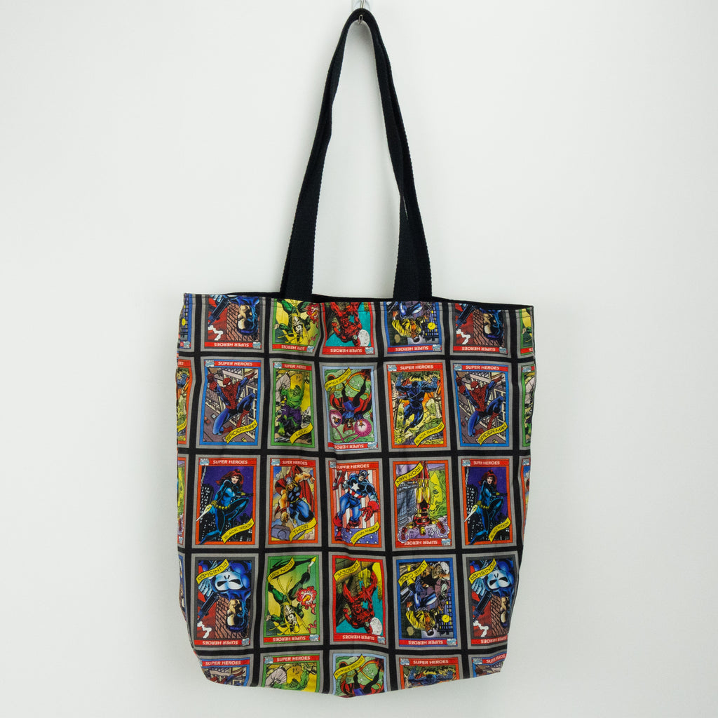 Marvel Trading Cards Tote Bag
