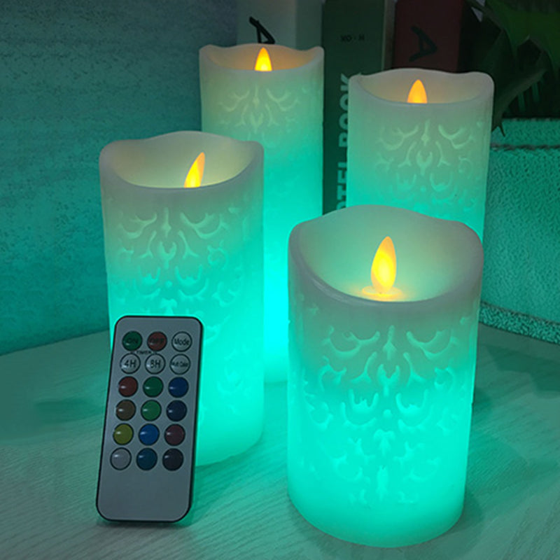 (BeLounia) Bougie LED en cire véritable + flamme vacillante
