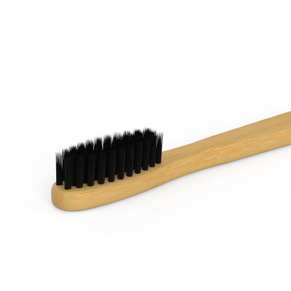 Bamboo Toothbrush With Charcoal Bristle 4 Packs