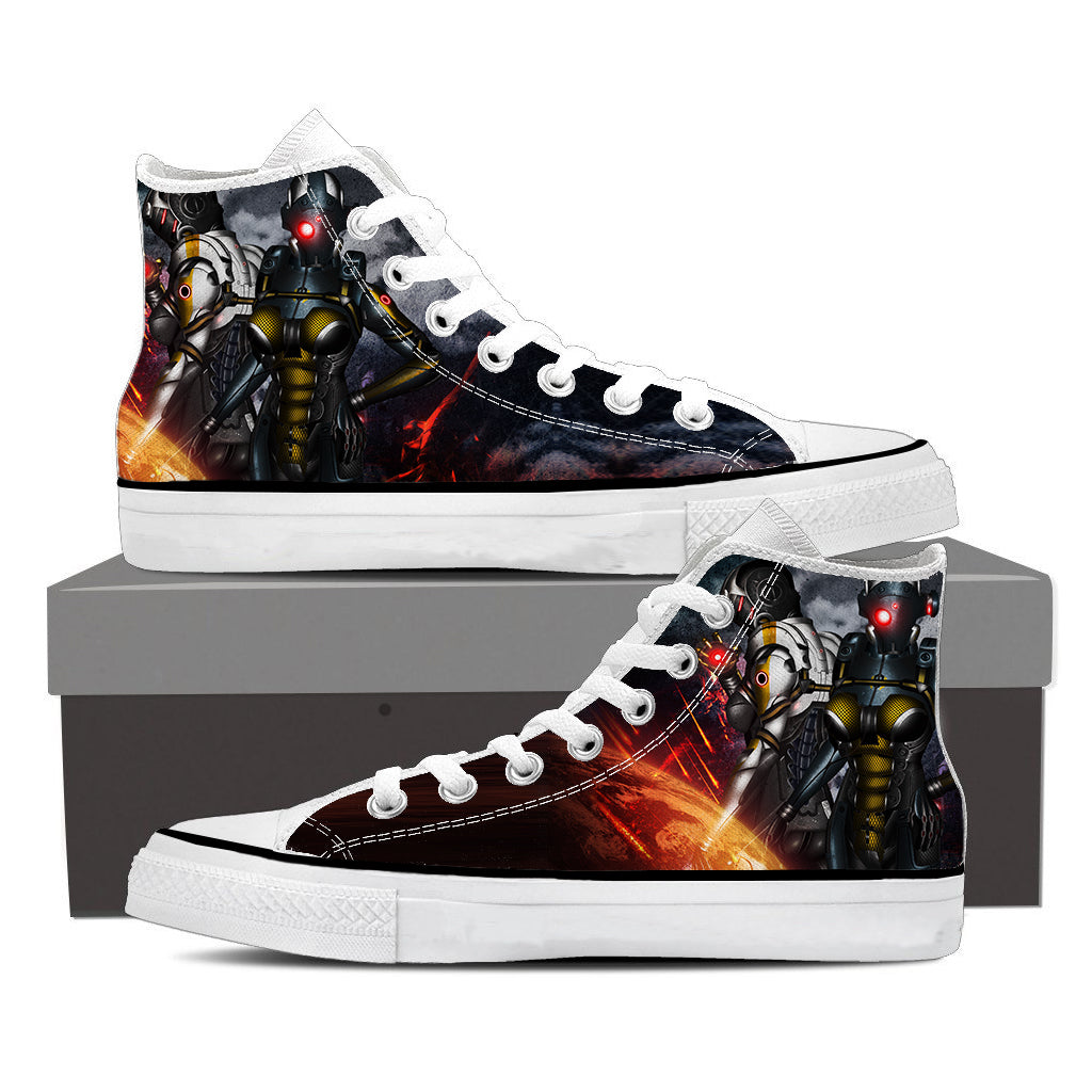 Mass Effect Cerberus Battle Armor Converse Sneaker Shoes