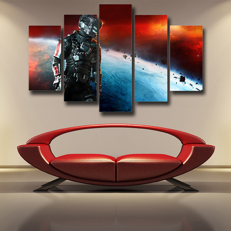 Mass Effect Captain Shepard Full Battle Armor Dope 5pc Wall Art Prints