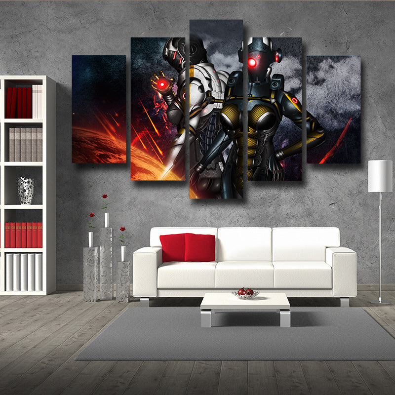 Mass Effect Cerberus Army Battle Armor Comic Style 5pc Wall Art Prints