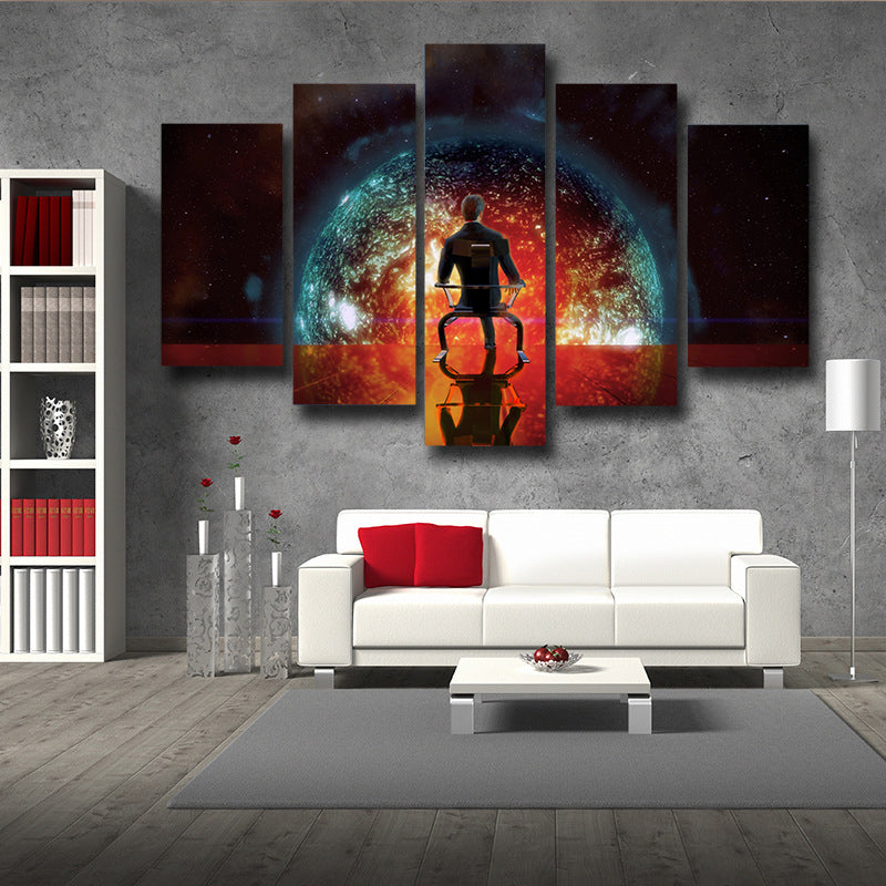 Mass Effect Illusive Man Cerberus Leader Game 5pc Wall Art Canvas Prints