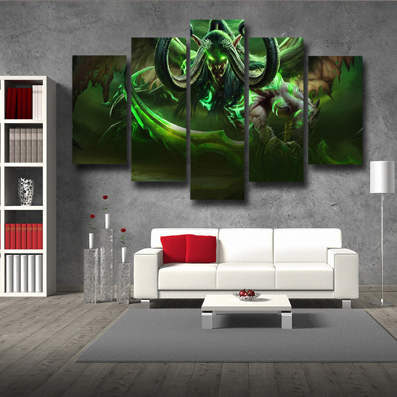 World of Warcraft Illidan Demon Hunter Elf Cool Game 5pc Wall Art Prints