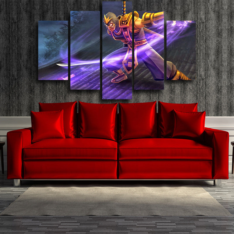 League of Legends Shen Attacking Vorpal Blade Comfy 5pc Wall Art