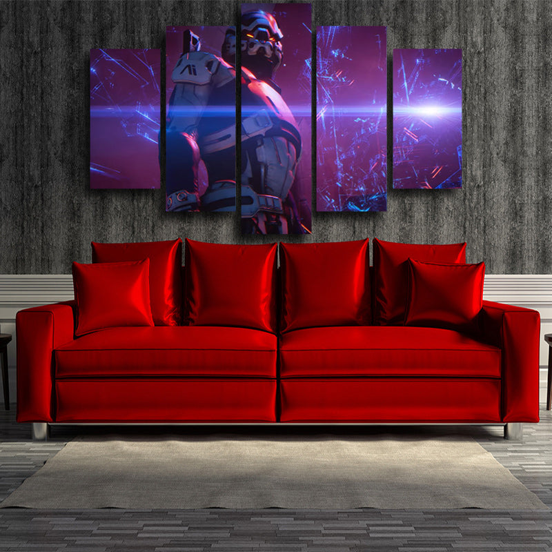 Mass Effect Turian Battle Armor Gaming Theme Cool 5pc Wall Art Prints