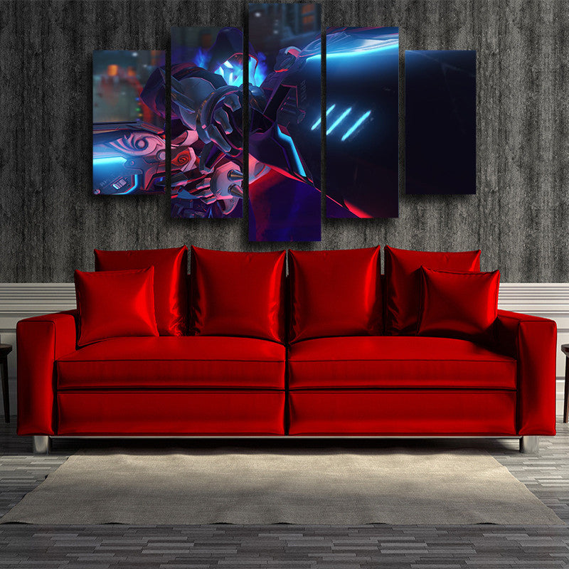 Overwatch Reaper Shiver Mode 5pc Wall Art Decor Canvas Prints