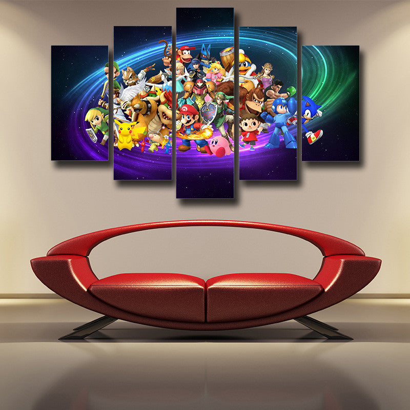 Nintendo Legend Characters 5pc Wall Art Posters Canvas Prints
