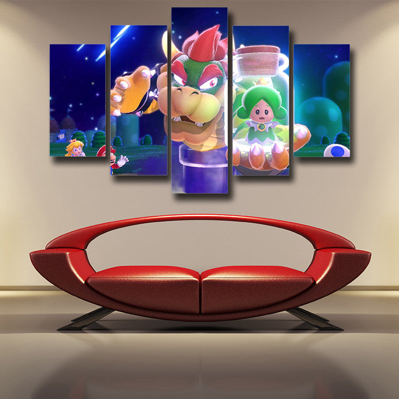 Super Mario King Koopa 5pc Wall Art Decor Posters Canvas Prints