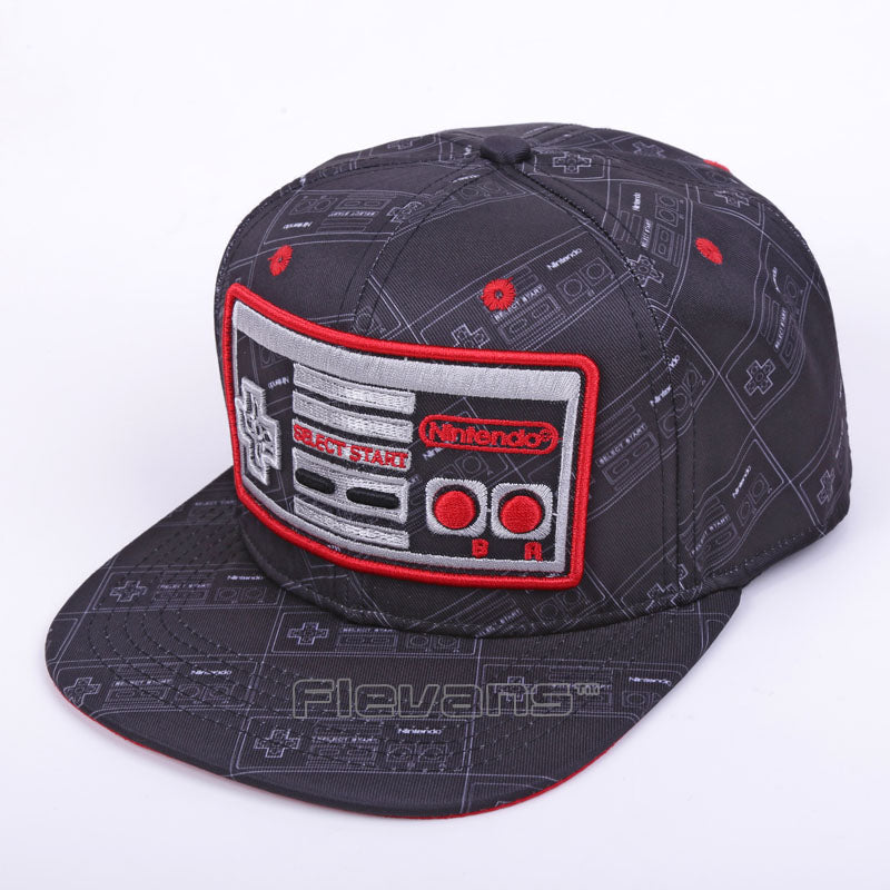 Game Console Cool Creative Black Snapback Baseball Hat Cap