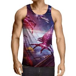 Mass Effect Reaper Battle Spaceship Cool Game Tank Top