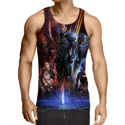 Mass Effect Galactic War Characters Full Print Game Tank Top