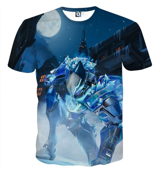 Overwatch Pharah Captain Frostbite Skin Dope Style T-Shirt