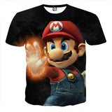 Super Mario Fire Gloves Iconic Posture Cool Design T-Shirt
