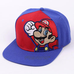 Super Mario Red and Blue Streetwear Baseball Hat Cap Snapback