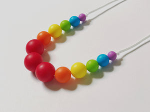 "Rainbow Teething ""Chewlery"" Necklace"