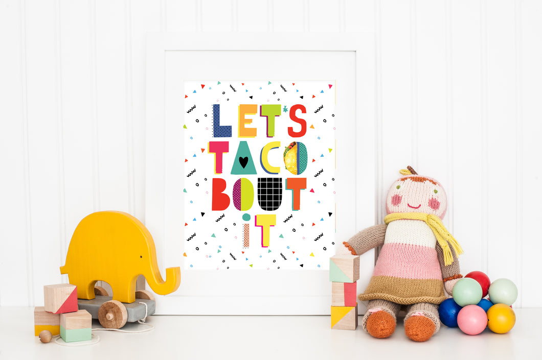 Let's Taco Bout It Children's Art Print