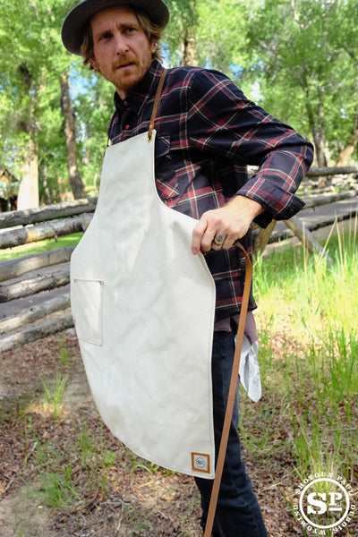Duck Canvas Apron with Leather Straps