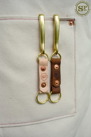 Leather Fish Hook Key Fob