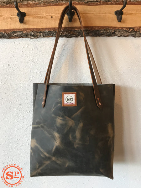 Leather Tote with Leather Handles