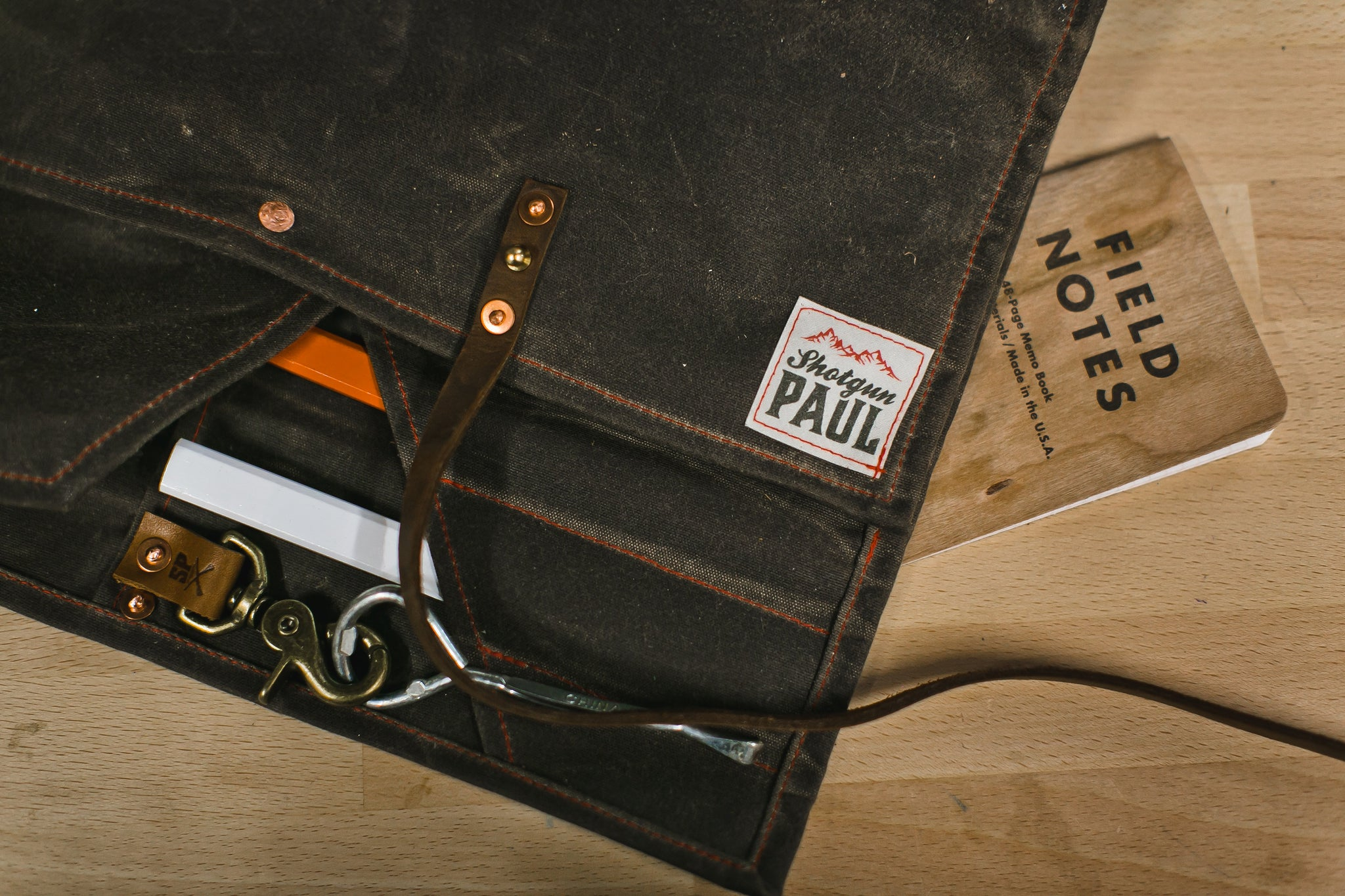 Martexin Waxed Canvas Tool Roll with Leather Straps