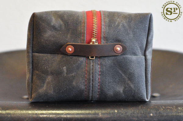 Martexin Waxed Canvas Dopp Kit with Leather Handles