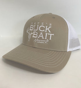 Khaki/White Richardson 112 Trucker Cap