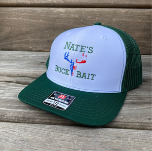 White/Dark Green SnapBack Trucker Cap