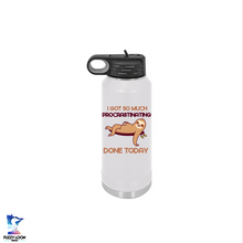 Procrastination Sloth  | 32oz Insulated Bottle with Straw and Spout