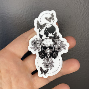 Gas Mask Earth Sticker