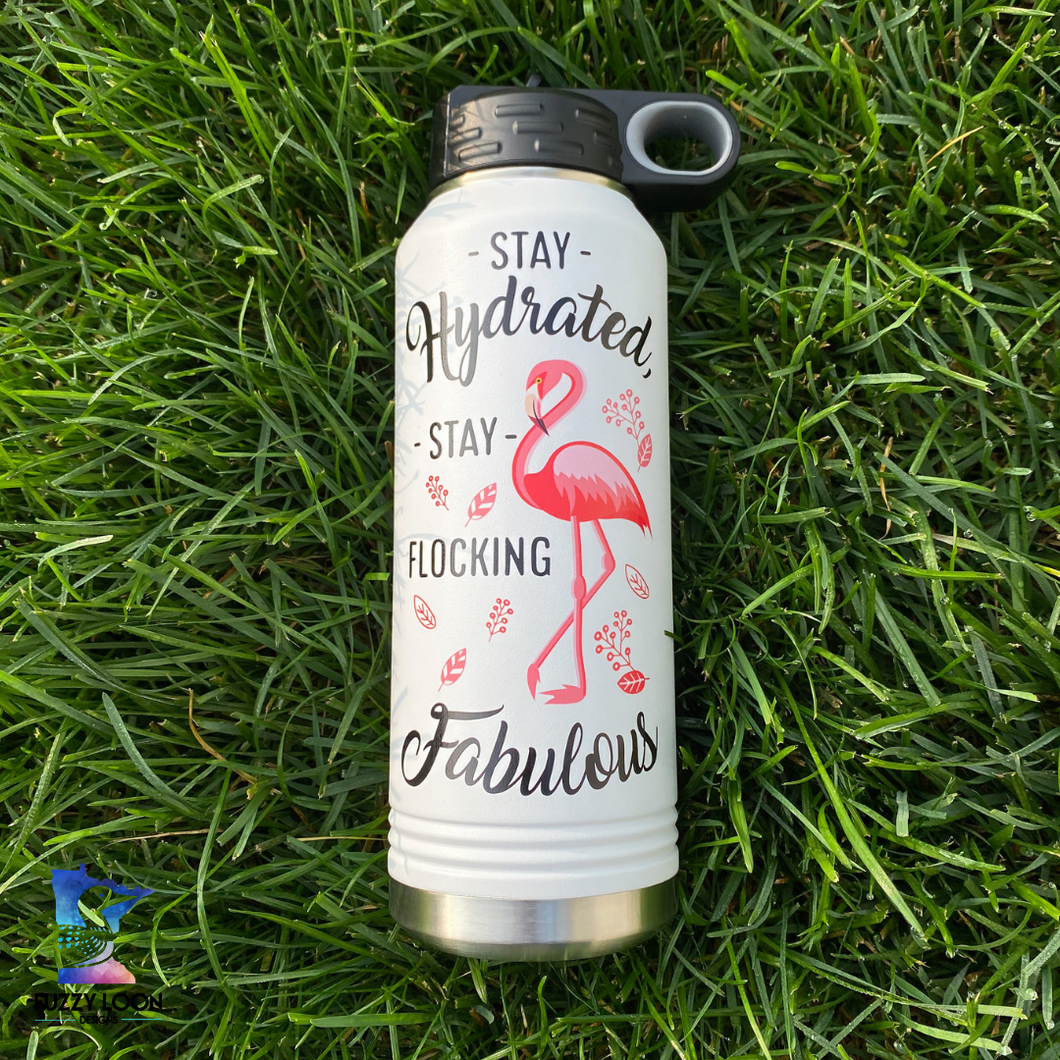 Stay Flocking Fabulous | 32oz Insulated Bottle with Straw and Spout