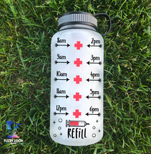 Peace, Love, Nursing Personalized Water Bottle | 34 oz