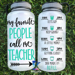 My Favorite People Call Me _________ Personalized Water Bottle | 34oz