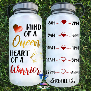 Mind of a Queen Water Bottle | 34oz