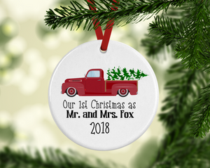 Our First Christmas Little Red Truck Ornament