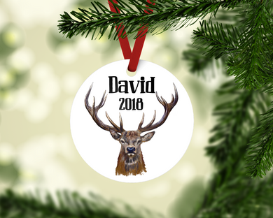 Personalized Buck Ornament