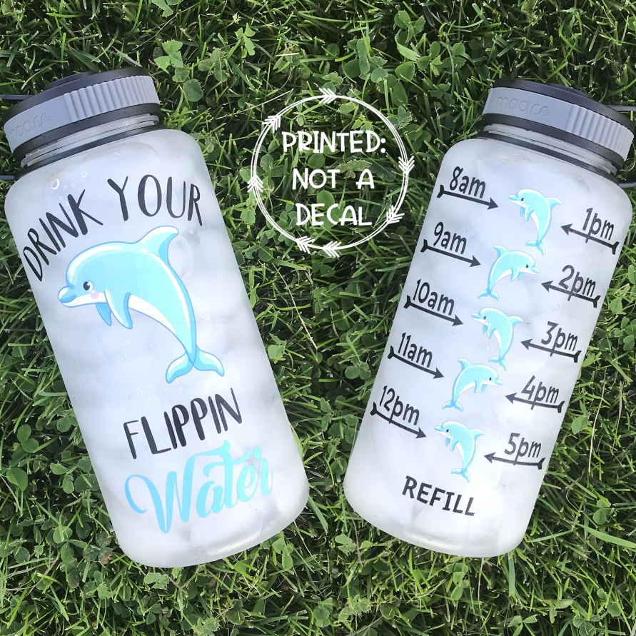 Drink Your Flippin Water Water Bottle | 34oz