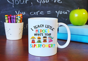 Teacher Themed Super Hero Coffee Mug
