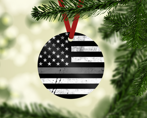 Thin Grey Line Corrections Ornament