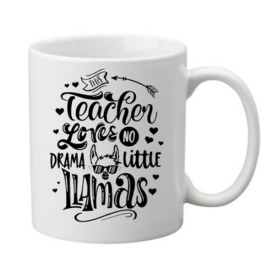 Llama Drama Teacher Coffee Mug