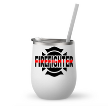 Firefighter/Firefighter Wife Wine Tumbler