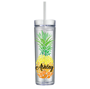 Personalized Pineapple Skinny Tumbler