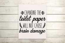 Change The Toilet Paper Funny Bathroom Canvas Print