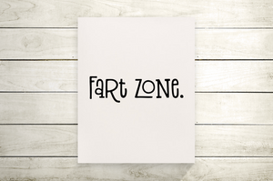 Fart Zone Funny Bathroom Canvas Print