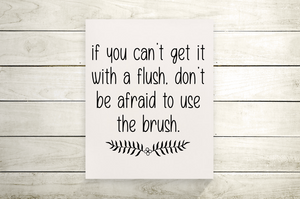 Use The Brush Funny Bathroom Canvas Print