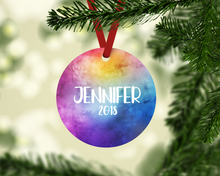 Personalized Watercolor Ornament