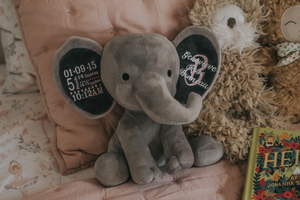 Birth Announcement Keepsake Elephant